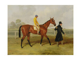 Sir Tatton Sykes (1772-1863) Leading in the Horse 'sir Tatton Sykes', with William Scott Up, 1846 Giclee Print by Harry Hall