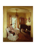 Interior Scene with Two Ladies Giclee Print by Percy William Gibbs