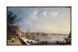 View of the Thames Looking Towards St. Paul's from the Gardens of Somerset House Giclee Print by William James