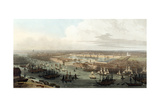 Wapping, Elevated View of the Dock, 1803 Giclee Print by Thomas & William Daniell