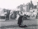 Putting Out the Washing, Hastings Old Town Photographic Print by Paul Martin