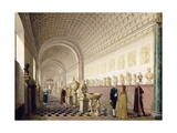 The Inner Gallery of the Royal Museum at the Royal Palace, Stockholm, 1796 Giclee Print by Pehr Hillestrom