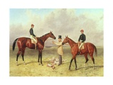 """Lord Lyon"", Winner of the Derby, St. Leger and 2,000 Guineas; ""Elland"", Winner of Ascot Gold… Giclee Print by Harry Hall"
