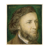 Portrait of Robert Browning (1812-89), 1855 Giclee Print by Dante Charles Gabriel Rossetti