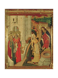 Jesus and the Women of Samaria, from the Altarpiece of the Transfiguration, Pradella Panel, 1445-52 Giclee Print by Bernardo Martorell