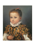 Portrait of a Young Girl Giclee Print by Giovanni Battista Moroni