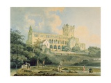 Jedburgh Abbey from the River, C.1798-99 Giclee Print by Thomas Girtin