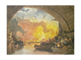The Great Fire of London, 1799, Engraved by J.C. Stadler (Fl.1780-1812) Giclee Print by Philippe De Loutherbourg