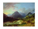 Landscape in the Lake District Giclee Print by Philip James De Loutherbourg
