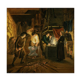 The Blacksmith's Forge Giclee Print by Johannes Dircksz van Oudenrogge