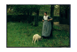 Larener Woman with a Goat, C.1885 Giclee Print by Anton Mauve