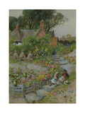 Cottage Garden in Summer Giclee Print by William Stephen Coleman