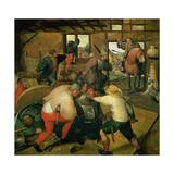 A Fight, C.1565-70 Giclée-Druck von Maerten van Cleve