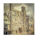 Christchurch Gate, Canterbury, C.1792-93 Giclee Print by J. M. W. Turner
