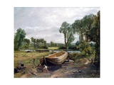 Boat Building Giclee Print by John Constable