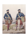 Two Men in Highland Dress, Engraved by Vincent Brooks, 1868 Giclee Print by Kenneth Macleay