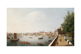 View of the River Thames from the Adelphi Terrace Giclee Print by William James