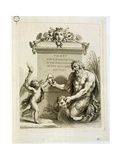 Ticket for a Masked Ball at the Opera House on the 26th April, Engraved by Francesco Bartolozzi… Giclee Print by Giovanni Battista Cipriani