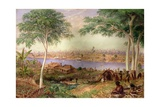 South Brisbane from the North Shore, Moreton Bay, Australia, 1868 Giclee Print by Thomas Baines