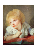 Child with an Apple, Late 18th Century Giclee Print by Jean-Baptiste Greuze