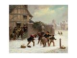 Snowballing Giclee Print by Thomas Smythe