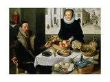 Double Portrait of an Elderly Couple Giclee Print by Lucas van Valckenborch