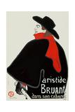 Aristide Bruant en su cabaret Lámina giclée por Henri de Toulouse-Lautrec