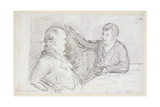 William Blake (1757-1827) in Conversation with John Varley (1778-1842) September 1821 Giclee Print by John Linnell