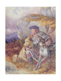 Ghillie and Deerhounds, 1874 Giclee Print by Richard Ansdell