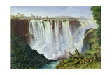 The Great Western Fall, Victoria Falls, 1862 Giclée-tryk af Thomas Baines