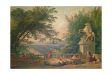 Terrace Ruins in a Park, C.1780 Giclee Print by Hubert Robert