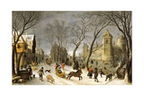 Winter Landscape: the Outskirts of Antwerp Giclee Print by Sebastian Vrancx