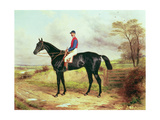 """Earl Poulett's """"The Lamb"""" , Winner of the Grand National, with Mr.George Ede Giclee Print by Harry Hall"""