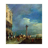 Venice, the Piazzetta Di San Marco Giclee Print by Francesco Guardi