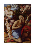 The Temptation of St. Jerome Giclée-Druck von Giorgio Vasari