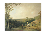 Landscape with Figures Giclee Print by Julius Caesar Ibbetson