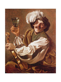A Violin Player with a Glass of Wine Giclee Print by Hendrick Terbrugghen