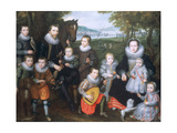 Portrait of a Family Group, C.1630 Giclée-Druck von Cornelis de Vos