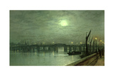 Battersea Bridge by Moonlight Giclee Print by John Atkinson Grimshaw