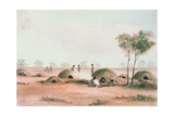 Native Village in the Northern Interior of South Australia, C.1846 Giclee Print by Samuel Thomas Gill