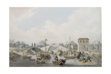 Boats on the River at Suchow, China Giclee Print by William Alexander