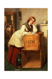Lady Writing a Letter Giclee Print by Thomas Faed