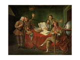 Conversation Piece: Sir Francis Dashwood (1708-81), Lord Boyne and Friends Giclee Print by Bartolommeo Nazari
