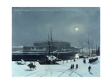 View of the Royal Palace of Stockholm in Winter Giclee Print by Baron Karl-Stefan Bennet