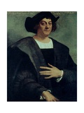 Christopher Columbus (1451-1506) Giclée-tryk af Sebastiano del Piombo