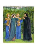 No.2292 the Salutation of Beatrice in Eden, 1850-54 Giclee Print by Dante Gabriel Rossetti