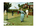 Tennis Players, 1885 Gicléetryck av Horace Henry Cauty