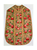 Embroidered Chasuble from the So-Called Rose Pontifical Set, Vienna, C.1700 Giclee Print