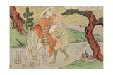 A 'Shunga', from a Series of Twenty Four Erotic Prints: Lovers on the Road, 1725-70 Giclee Print by Suzuki Harunobu