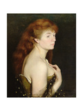 Portrait of a Young Red Haired Woman, 1889 Giclee Print by Charles Maurin